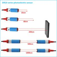 NPN NO M18 Cylindrical Photoelectric Beam Detector Through Beam Optical Switches Manufactures