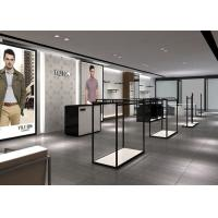 Modern Fashion Style Retail Display Fixtures Men Clothing Display Systems Manufactures
