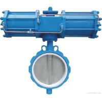 API598 Pneumatic Flanged Butterfly Valve , DN40-1200 Soft Sealing Butterfly Valve Manufactures