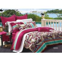 Hotel durable Sateen Bedding Sets Combed Cotton Fabric for Adult Manufactures