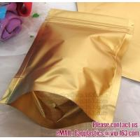 China Side Gusset Bags, Quad Sealed Bags, Cookie packaging, Tea pack, Coffee pack, Oil packaging Aluminium Foil Ziplock Bags W on sale