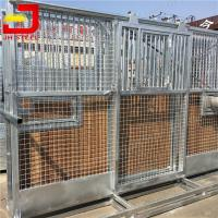 Portal Frame Horse Stall Fronts Hot Galvanized  Steel Structure With Bamboo Wood Manufactures