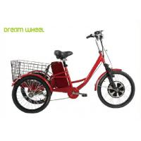 Pedals Assisted Electric Mobility Scooter , Electric Cargo Trike 36V 350W Motor