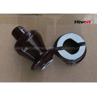 1KV 250A LV Ceramic Insulator Bushing , Overhead Line Insulators Chocolate Brown Manufactures