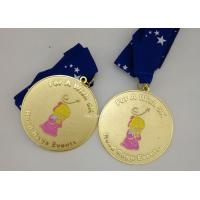 China Customized Army Medals And Ribbons , Die Casting Zinc Alloy Karate Medals on sale