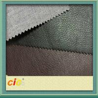 China Environmentally Friendly Leather Cloth PU Synthetic Leather For Shoes / Auto Upholstery on sale