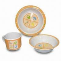 Plates/Dish Set, Made of Melamine, Customized Colors, Designs and Sizes Accepted, Sized 10 x 15cm Manufactures