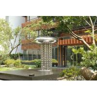 China Modern Garden Large Outdoor Sculpture , Stainless Steel Fountain Surface Polished on sale