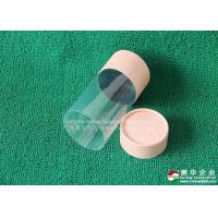 China Customised CMYK Color Paper Tube packaging matt lamination Paper Cosmetic Container With PVC Window on sale