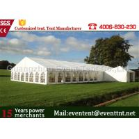 China 500 People Wedding Party Tent White marquee With Durable PVC Fabric Waterproof Cover on sale