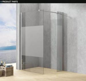 China Frameless Clear Glass Shower Enclosure , Single Frameless Glass Shower Door on sale