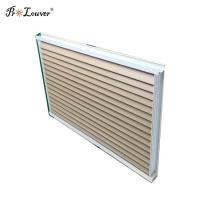 Customized Aluminum Aerofoil Sunshade Louver Windows with Wooden Color Manufactures