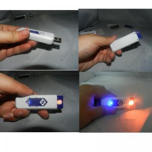 Ten Color Optional Usb Rechargeable Lighter , Plastic Usb Cigarette Lighter Manufactures