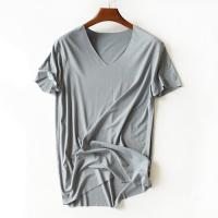 Eco Friendly Blank Bamboo V Neck T Shirts , Oversized Gym T Shirt Comfortable Manufactures