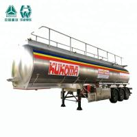 Semi Triple Axle Trailer / Multichannel Stainless Steel Tank Trailer Manufactures