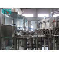 18 Rinsing Heads  Fully Automatic Carbonated Water Filling Machine CE ISO Approved Manufactures