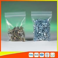 Clear Packing Ziplock Bags For Hardware Packaging , Plastic Bag With Zipper Manufactures