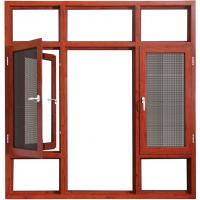 China Coloured HingedAluminium Double Casement Windows Bronze With Reflective Glass on sale
