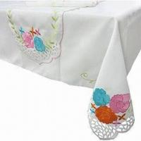 China Alice Garden-applique Table Linen with Embroidery and Cut-out Workmanship on sale