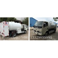 best price dongfeng brand 5500L bulk lpg gas dispesning truck for sale, mini 2.3ton propane gas refilling truck for sale Manufactures
