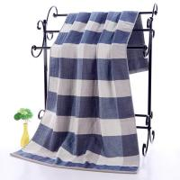Plaid Patterned Luxury Cotton Towels Manufactures