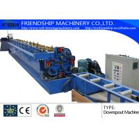 Aluminum / Cooper Round Down Pipe Roll Forming Machine , Thickness 0.4-0.8mm Manufactures