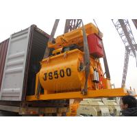 China Hydraulic 500 Litres Concrete Mixing Equipment Double Spiral Construction Mixer Machine on sale