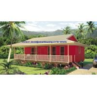 Moistureproof Home Beach Bungalows , Fireproof Wooden House Bungalow Manufactures