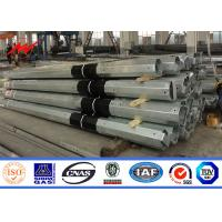 11m 3.8mm 2 Section FRP Galvanized Steel Pole Electric Transmission Column Manufactures
