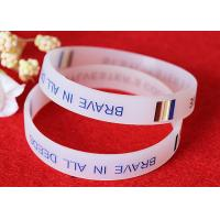 Half Transparent Rubber Wrist Bracelets 180mm Perimeter Embossed Technique Manufactures