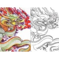 OEM hot sale new Dragon tattoo coloring book for tattooist with High quality Manufactures