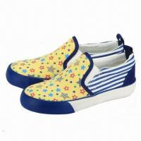 Children's Casual Shoes with Canvas Upper and Rubber Outsole Manufactures