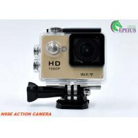 Multi Languages 1080p Hd Wifi Action Camera With Waterproof Case / Lithium Battery Manufactures