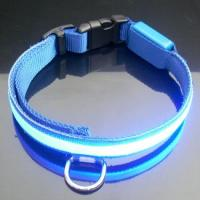 White LED Flashing Nylon Dog Harness With Cute Naughty Dog Pattern Manufactures