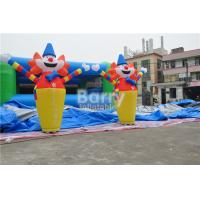 China 2.6H M Clown Customize Inflatable Advertising Products , Usb Mini Inflatable Air Dancer on sale