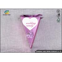 China Small Purple Decorative Gift Boxes , Chocolate Candy Boxes Triangle Shaped on sale