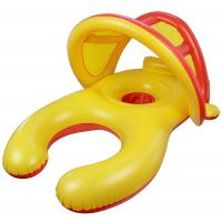 Mom And Baby Inflatable Swim Ring With Sun Shade Canopy / Bucket Seat PVC Baby Float Manufactures