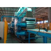 China PLC Control Rock Wool Production Line / PU Formed Sectional Sandwich Panel Line on sale