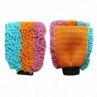 Chenille Wash Mitts for Car, Multicolored Manufactures