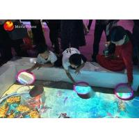 China 3D Ar Interactive Projection Kids Floor Sand Pond Game Machine With OLED Display on sale