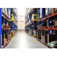 China Durable Conventional Powder Coating Steel Pallet Racks , Metal Shelving Systems For Long Material on sale
