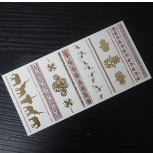 China wholesale gold tattoo sticker jewelry chain ring sticker on sale