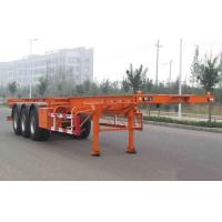 Flat-bed Semi Trailer Truck 3 Axles 50Tons 13m for Container Loading Manufactures