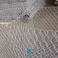 China Stone cages hexagonal wire netting in rolls PVC coated gabion box 2*1*1M wire mesh fence rolls on sale