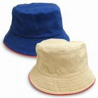 Bucket Hat, Customized Embroidery Logo Design are Welcome, Made of 20 x 16 Cotton Twill Material Manufactures