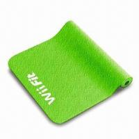 Yoga Mat for Wii Fit with Anti-slip Surface, Made of High-density Elastic Material Manufactures