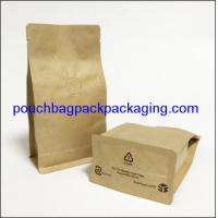 China Block bottom stand up pouch, coffee bag, 95x55x185mm, 150 microns on sale