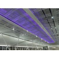 Rust Proofing Suspended Commercial Aluminium Baffle Ceiling For Airport  Or Railway Station Manufactures
