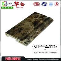 120mm Cheap Decorative Board 3d pvc wall panels designs floor skirting board Manufactures