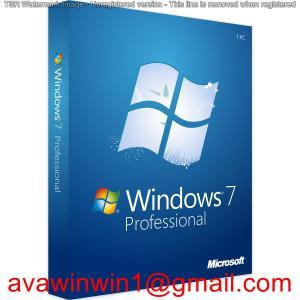 China Korean Language Microsoft Windows 7 Pro Retail Box 32 Bit And 64 Bit System on sale